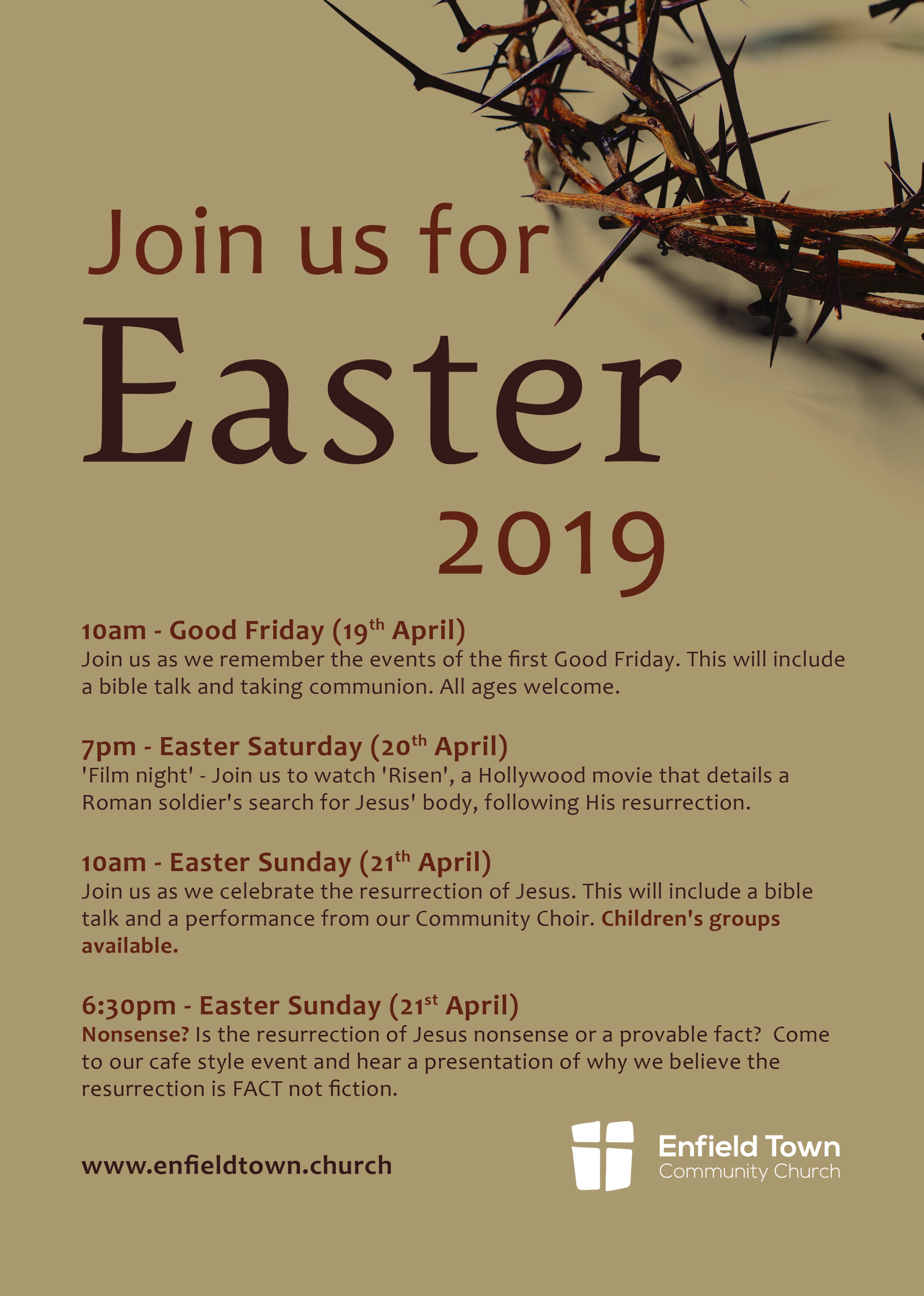 Easter Flyer 2019 for a1 print